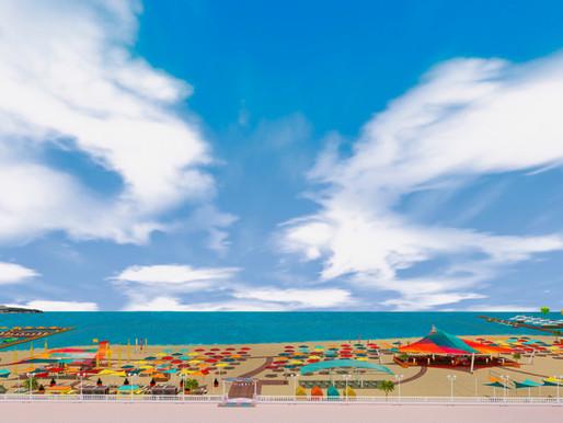 Концепция пляжа в Геленджике.