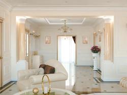 Гостиная с камином. Дом в Краснодаре