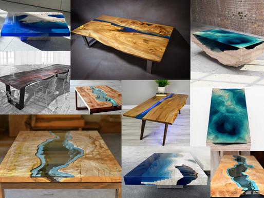 столы из дерева и эпоксидной смолы