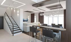 Гостиная -кухня 3
