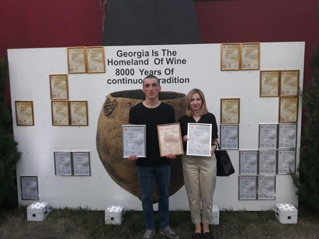 Awards presented to Kapistoni Winery for our 2018 Tavqveri and 2018 Chinebuli in the red dry and white dry categories respectively at 3rd International Qvevri Wine Competition in Georgia.
