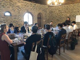 Japanese visitors accompanying Master Sommelier Kenichi Ohashi  enjoying a tasting of our wines at Kapistoni Wines.