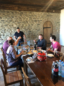 Polish visitors accompanying journalist and wine writer Mariusz Kapczynski during a guided tasting of our wines.