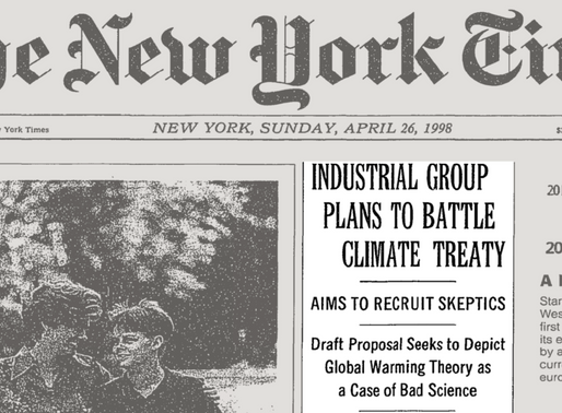 As The New York Times Thinks Through Its Op-ed Policy, Will It Stop Publishing Climate Denial?