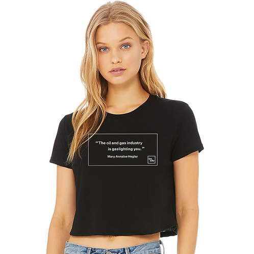 The Oil And Gas Industry Is Gaslighting You crop top
