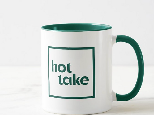 Hot Take logo mug, green