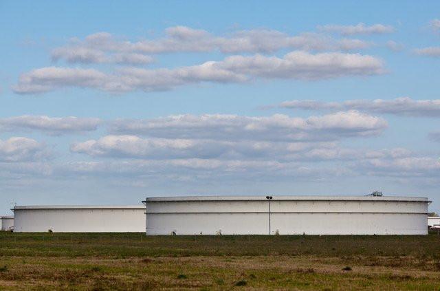"Part of the Strategic Petroleum Reserve, in Louisiana's ""Cancer Alley"". Credit: Julie Dermansky"