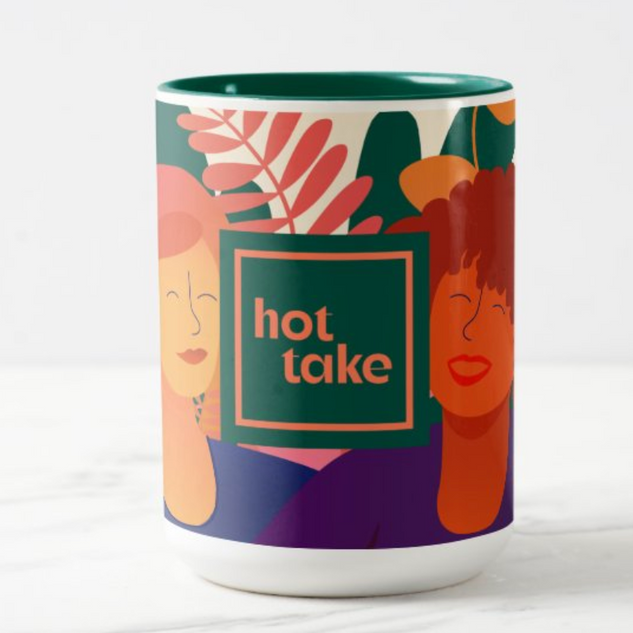 Hot Take Illustrated Mug