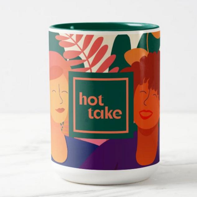 Hot Take Illustrated Mug