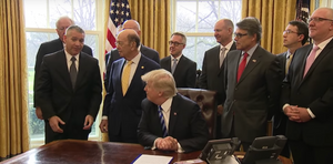 President Trump and officlas meet with oil executives on April 3, 2020. (Credit: The White House)