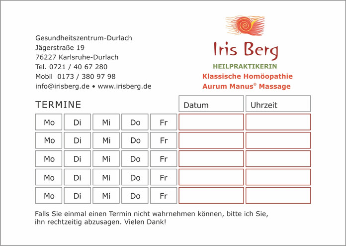 Terminblock Iris Berg