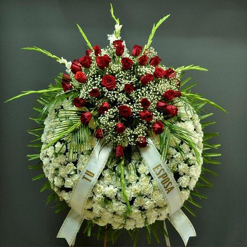 Corona clavel, centro de rosas (Ref. 21A)