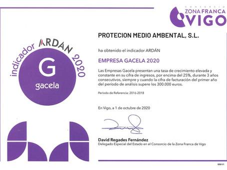 RECONOCIMIENTO COMO EMPRESA GACELA 2020
