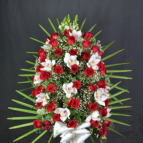 Ramo de rosas y orquideas (Ref. 14A)