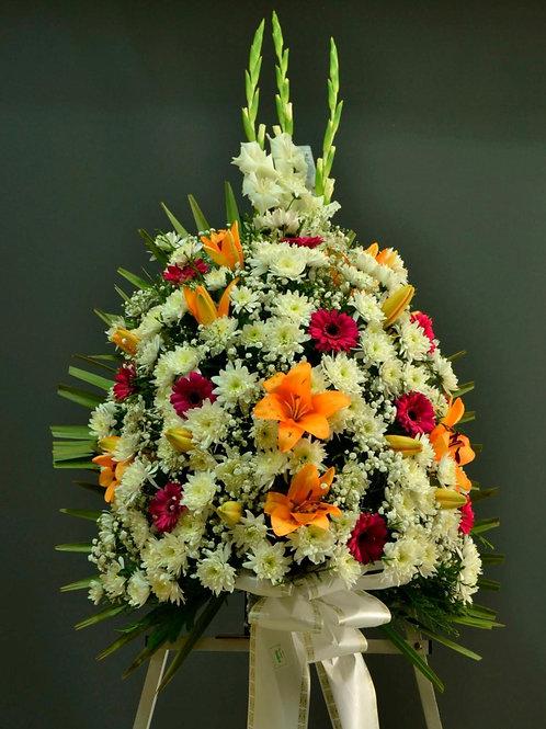 Ramo de crisantemo, gerbera y lilium (Ref. 9N)