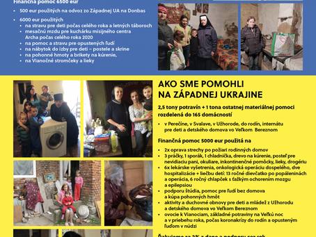 Poďakovanie za zbierku na pomoc chudobným a deťom na Ukrajine