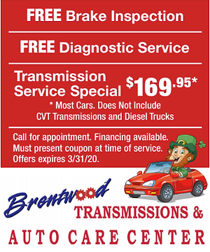 Coupon for free brake inspection and diagnostic.
