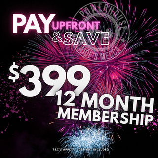 Upfront membership for 12 Months *gst not included