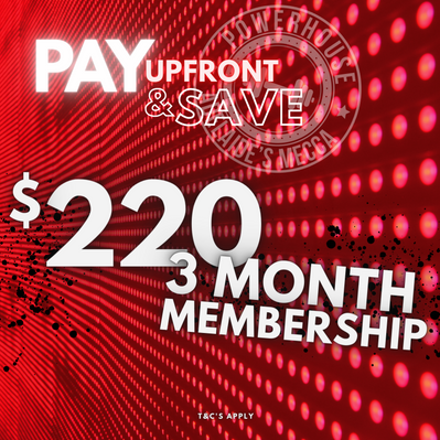 Pay Up front - 3 Month Membership