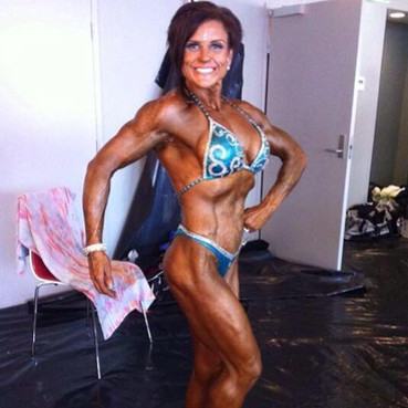 Kristy winning her novice division in NABBA. What an amazing transformation.