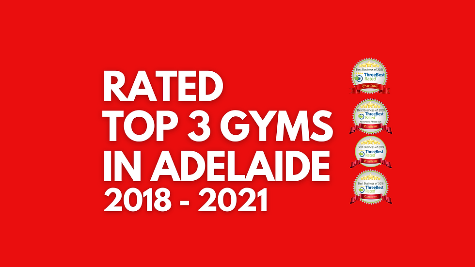 Rated Top 3 Gyms in Adelaide
