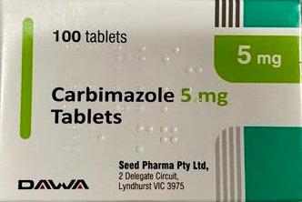 CARBIMAZOLE DAWA 5mg [100] TAB (S19A Seed Pharma)