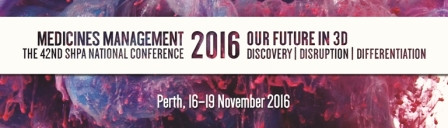 Pro Pharmaceuticals Group attending SHPA Conference 16th-19th November (Perth) - looking forward to