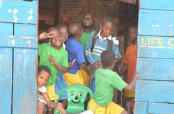 Pupils of Mandela primary school