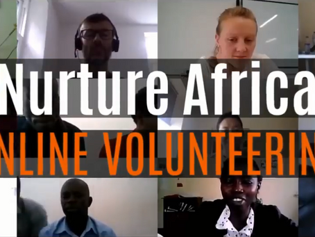 Volunteering from home through Nurture Africa's Virtual Volunteer Programme in 2021