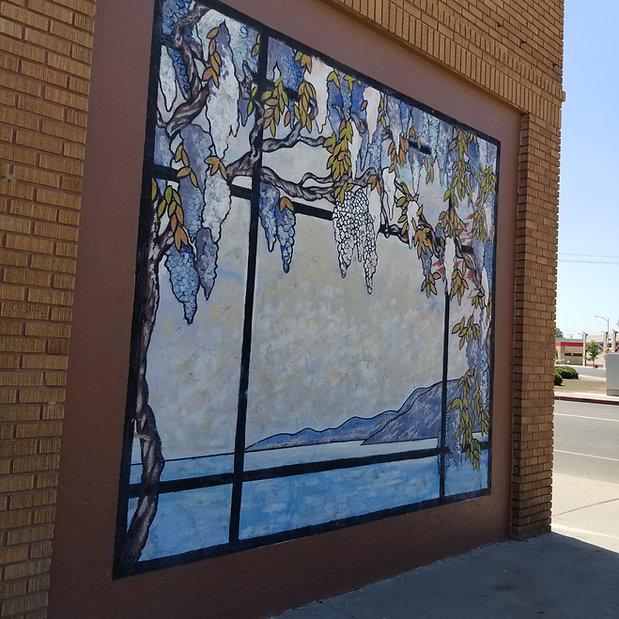 Tiffany inspired mural