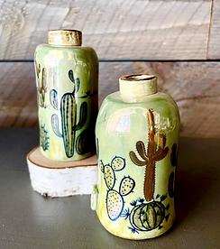 Cactus bud vases