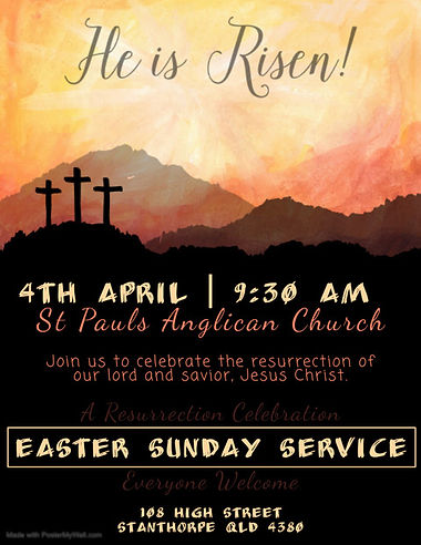 Easter Sunday Church Service Flyer - Mad