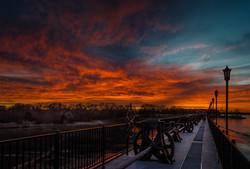 Sunset At Lake Overholser Dam #3