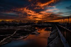 Sunset At Lake Overholser Dam #4