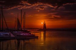 Sunset On Lake Hefner #5