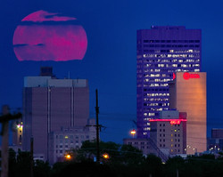 Full Moon Over Downtown