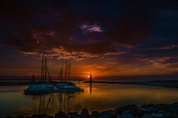 Sunset On Lake Hefner #4