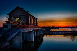 Sunset At Lake Overholser Dam #1