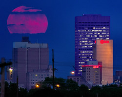 Moonrise Over OKC