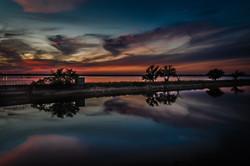Sunset At Lake Overholser