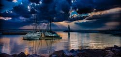 Sunset On Lake Hefner #12