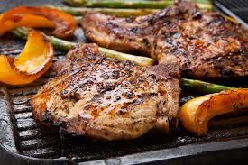 Pork loin chops.