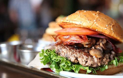 Gourmet beef burger patties (Chuck and Brisket)