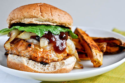 Chicken burger patties
