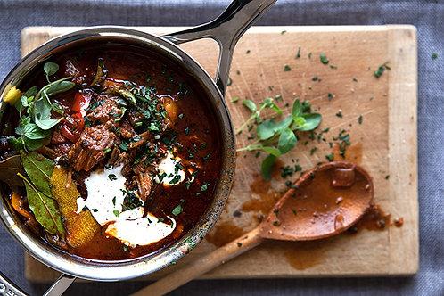 Springbok goulash.