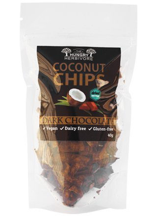 The Hungry Herbivore - Coconut Chips. 40g