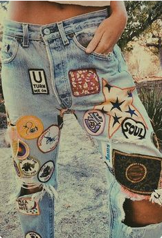 Jeans patch Vintage