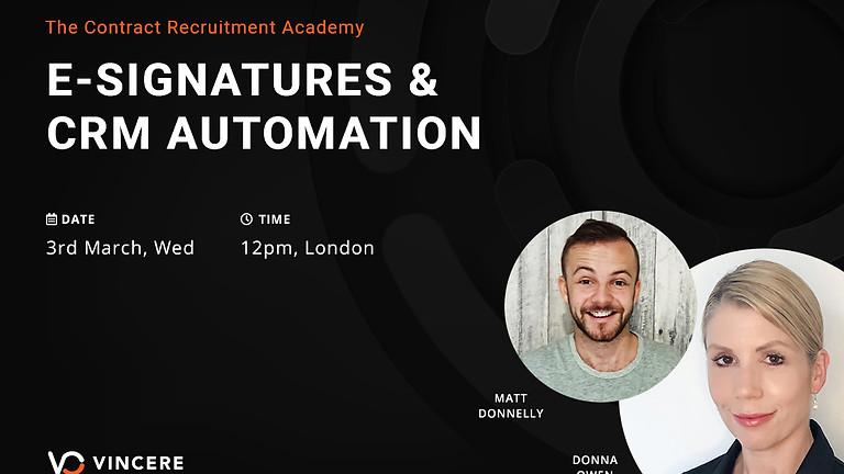 E-Signatures & CRM Automation