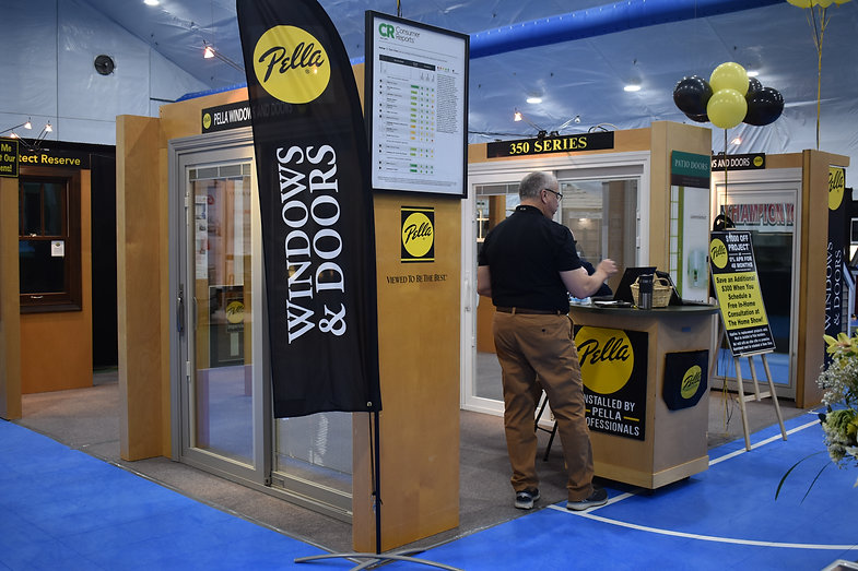 Pella Windows and Doors Exhibitor booth display