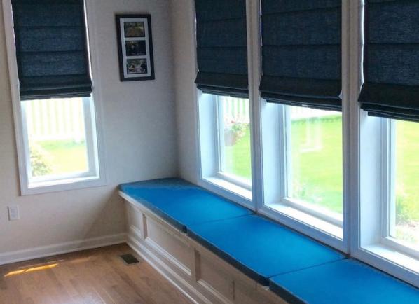 window seat with window treatments